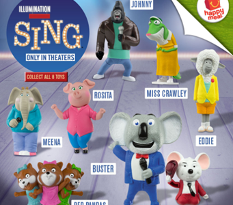 McDonald's SING Happy Meal Toys