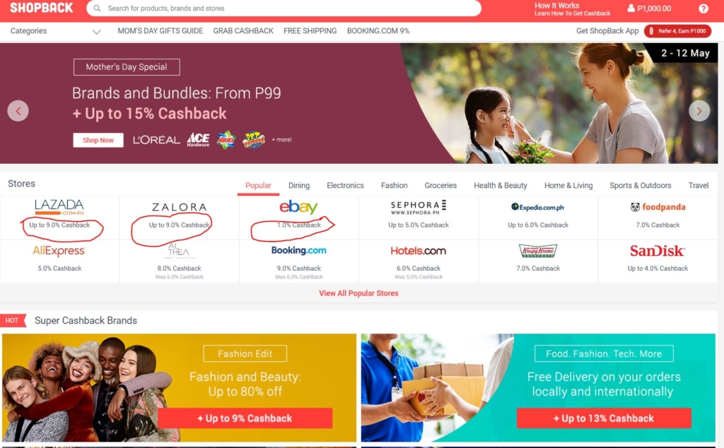 shopback homepage