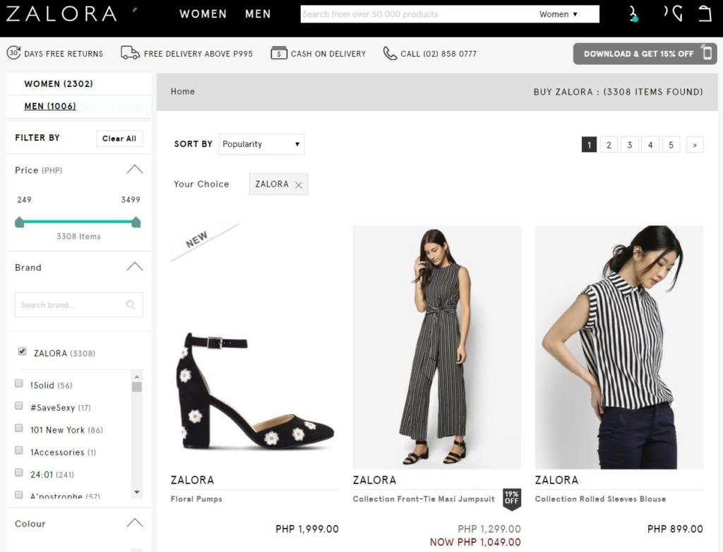 zalora homepage