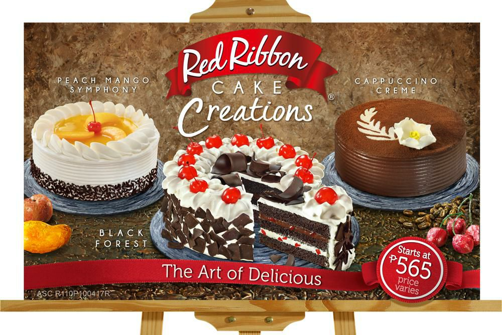 Mango Cake In Red Ribbon Price